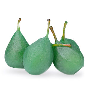 Pera-Intera-Verde-frutta-candita-nappi