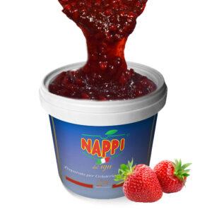 Variegato Fragola Strawberry Nappi Gelato Ice Cream Pasticceria Soft Yogurt Frutta