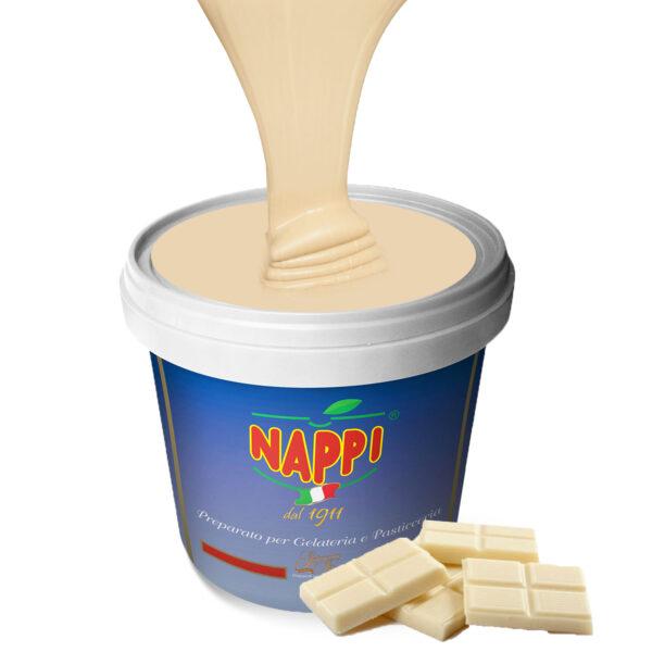 Variegato White Cream Cioccolato Bianco Nappi Gelato Gelateria Pasticceria Yogurt Nappi